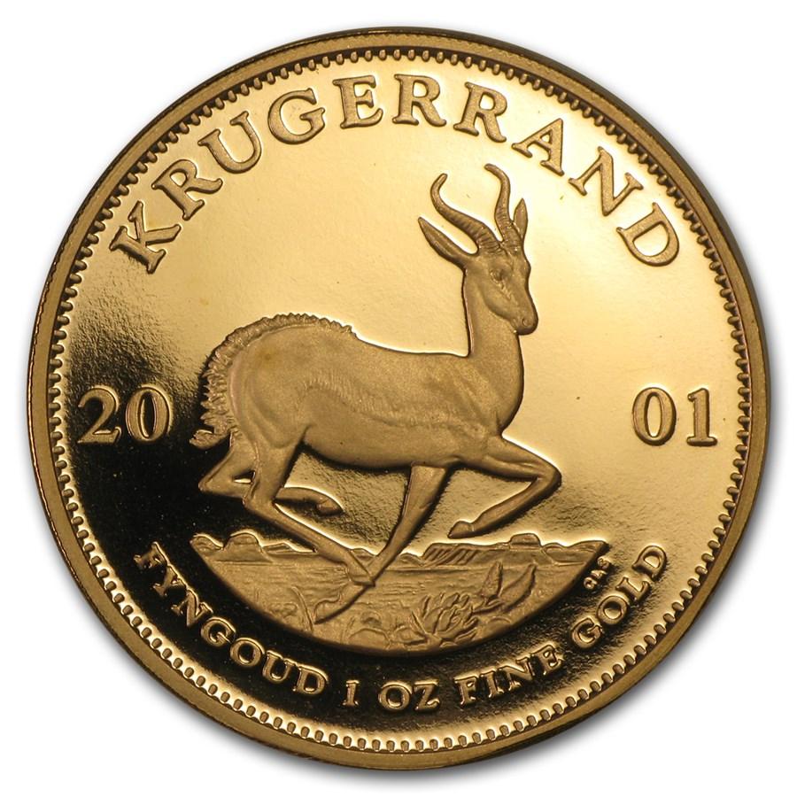 2001 South Africa 1 oz Proof Gold Krugerrand