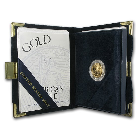 2001-W 1/10 oz Proof American Gold Eagle (w/Box & COA)