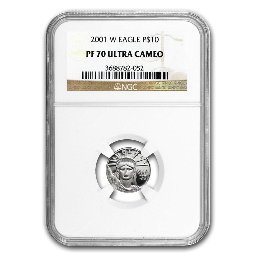 2001-W 1/10 oz Proof American Platinum Eagle PF-70 NGC