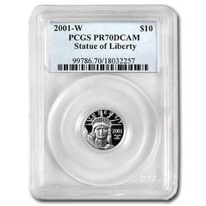 2001-W 1/10 oz Proof American Platinum Eagle PR-70 PCGS
