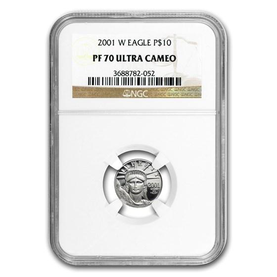 2001-W 1/10 oz Proof Platinum American Eagle PF-70 NGC