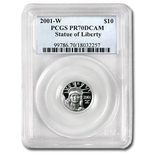 2001-W 1/10 oz Proof Platinum American Eagle PR-70 PCGS