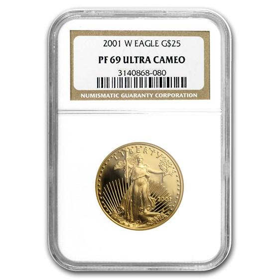 2001-W 1/2 oz Proof American Gold Eagle PF-69 NGC