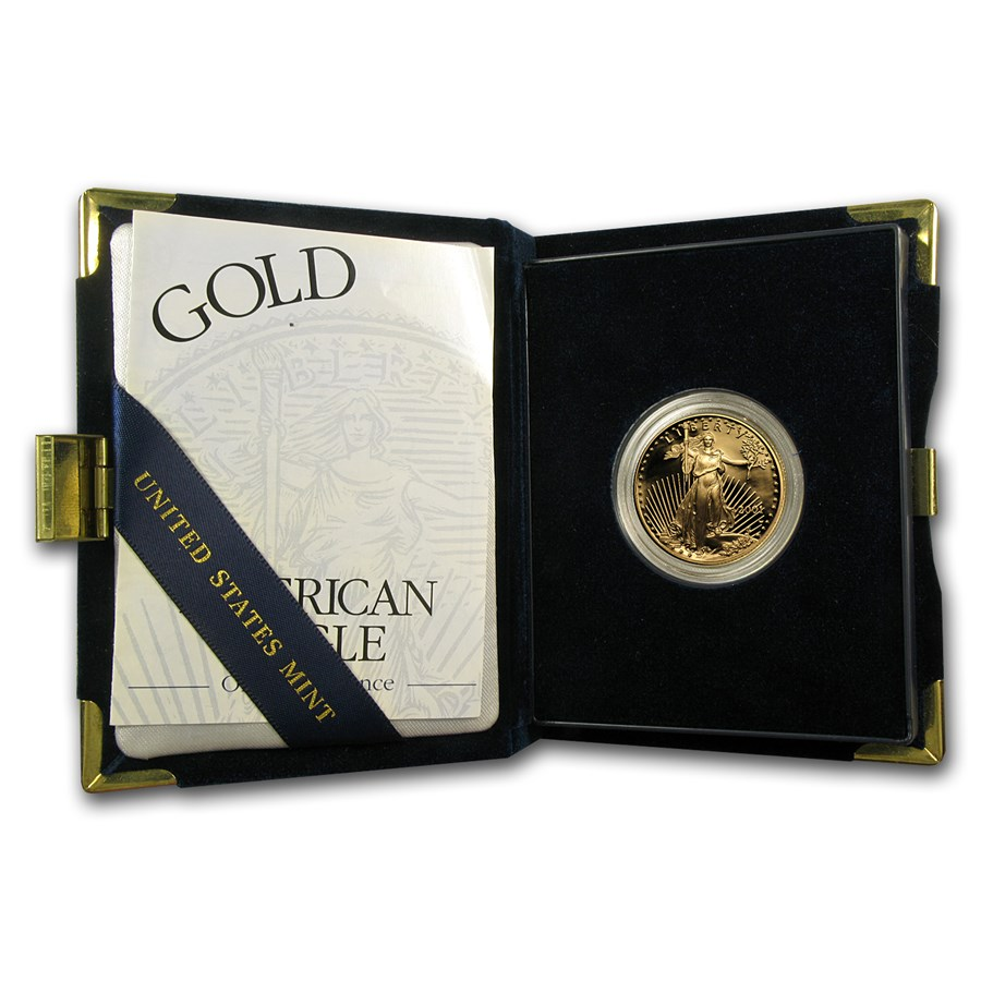 2001-W 1/2 oz Proof American Gold Eagle (w/Box & COA)