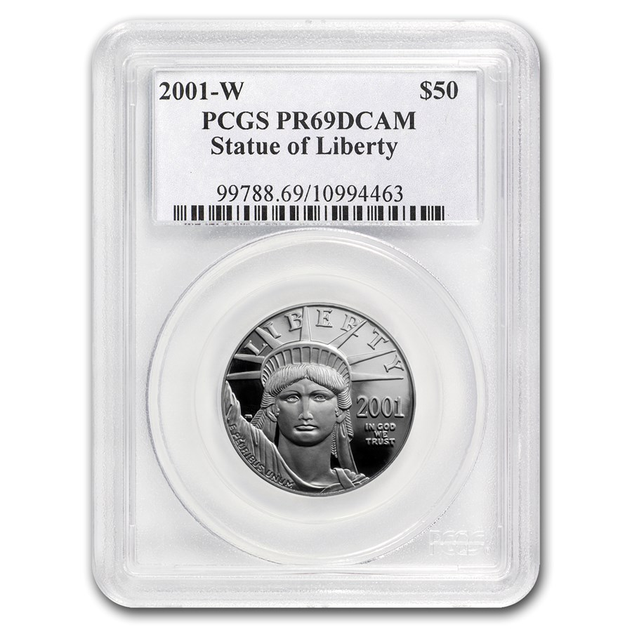 2001-W 1/2 oz Proof American Platinum Eagle PR-69 PCGS