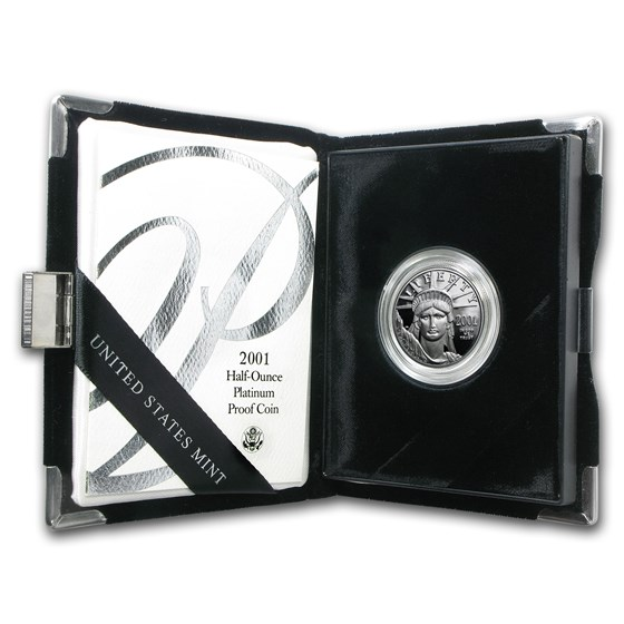 2001-W 1/2 oz Proof American Platinum Eagle (w/Box & COA)