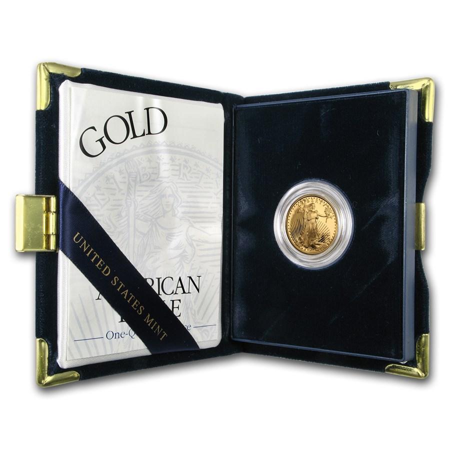 2001-W 1/4 oz Proof American Gold Eagle (w/Box & COA)