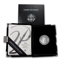 2001-W 1/4 oz Proof American Platinum Eagle (w/Box & COA)