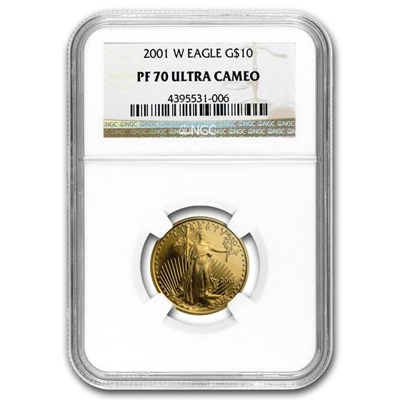 2001-W 1/4 oz Proof Gold American Eagle PF-70 NGC