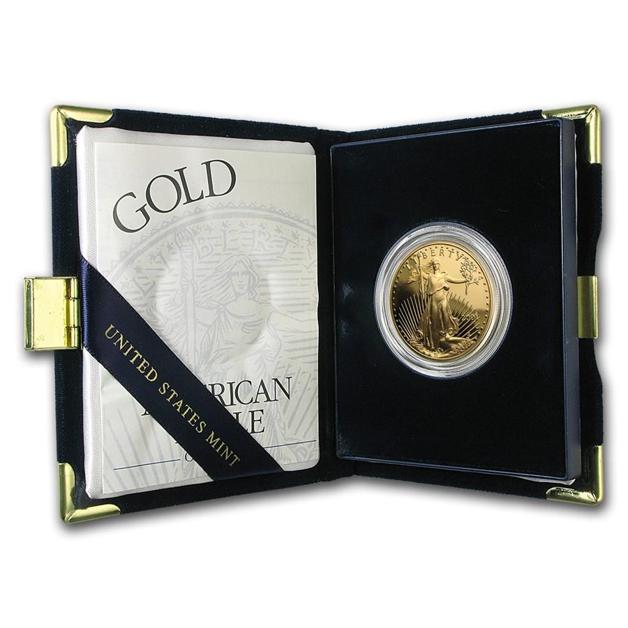 2001-W 1 oz Proof American Gold Eagle (w/Box & COA)