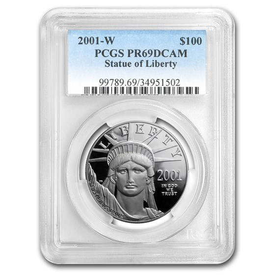 2001-W 1 oz Proof American Platinum Eagle PR-69 DCAM PCGS