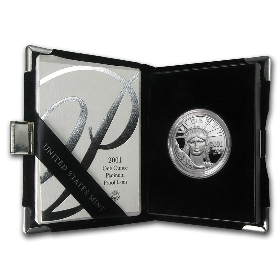 2001-W 1 oz Proof American Platinum Eagle (w/Box & COA)