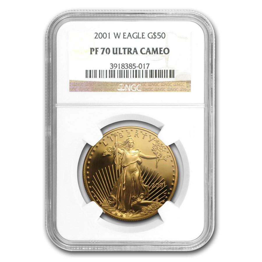 2001-W 1 oz Proof Gold American Eagle PF-70 NGC