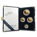 2001-W 4-Coin Proof American Gold Eagle Set (w/Box & COA)