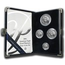 2001-W 4-Coin Proof American Platinum Eagle Set (w/Box & COA)