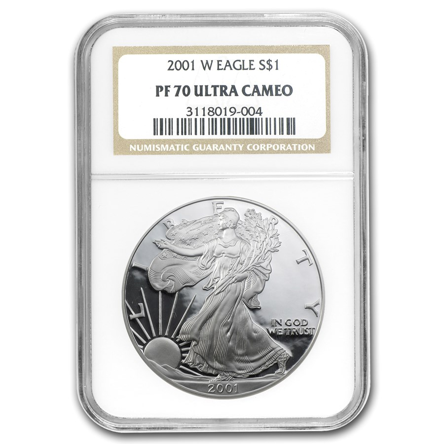 2001-W Proof American Silver Eagle PF-70 NGC