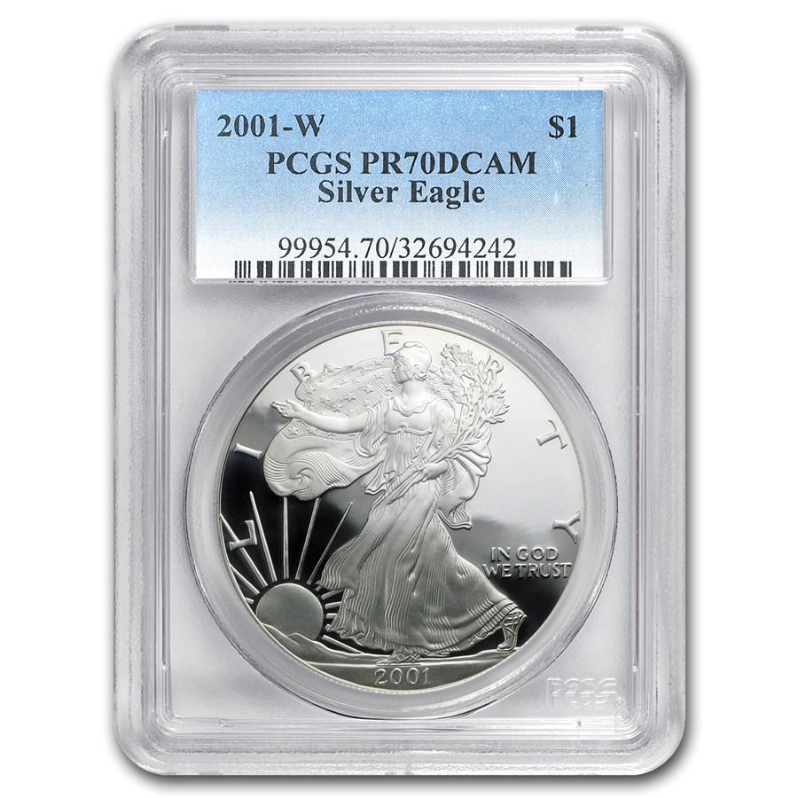 2001-W Proof American Silver Eagle PR-70 PCGS