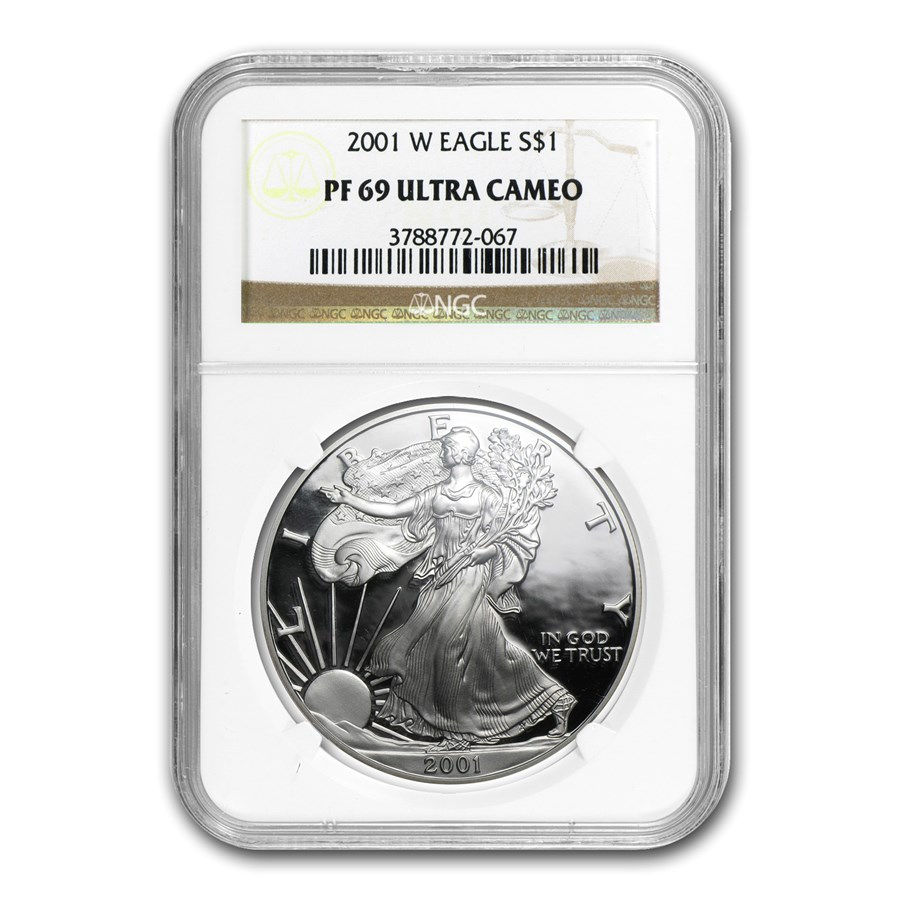 2001-W Proof Silver American Eagle PF-69 NGC