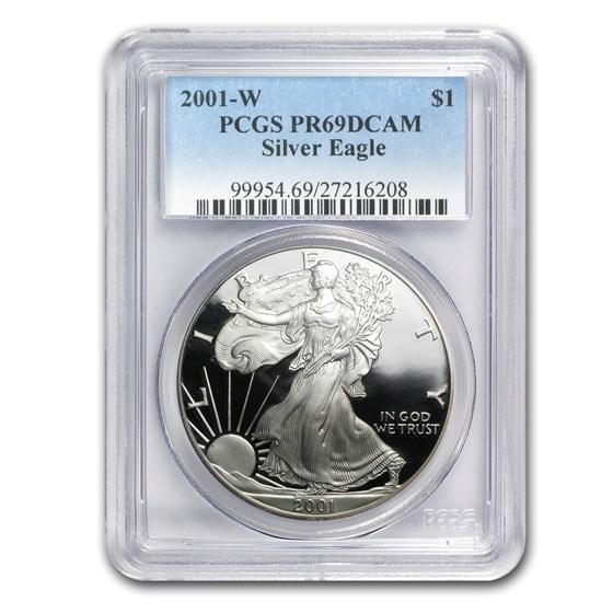2001-W Proof Silver American Eagle PR-69 PCGS