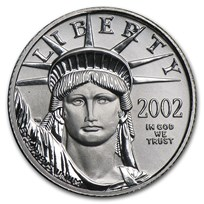 2002 1/10 oz American Platinum Eagle BU