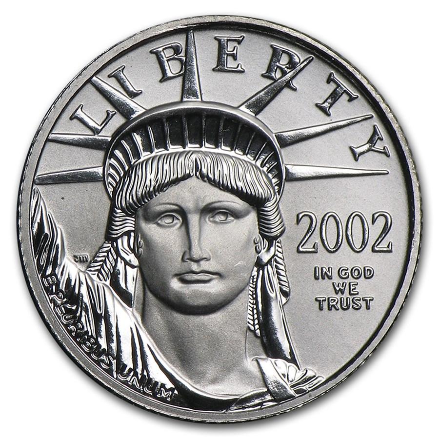 2002 1/10 oz American Platinum Eagle BU