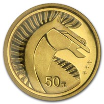 2002 1/10 oz China Gold Lunar Year of the Horse (Proof)