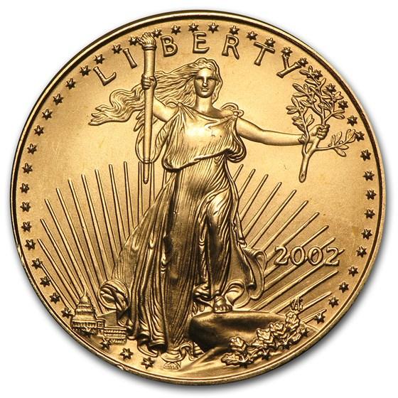 2002 1/2 oz American Gold Eagle BU