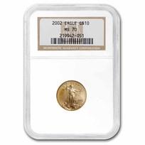 2002 1/4 oz American Gold Eagle MS-70 NGC