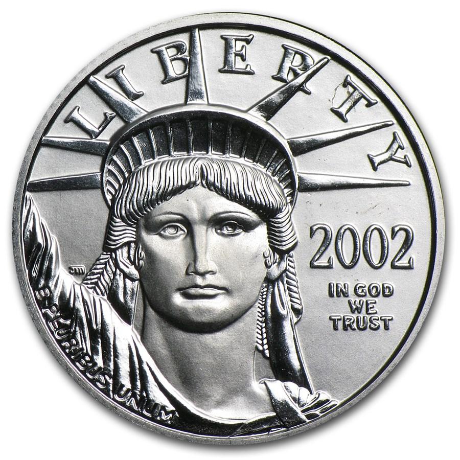 2002 1/4 oz American Platinum Eagle BU
