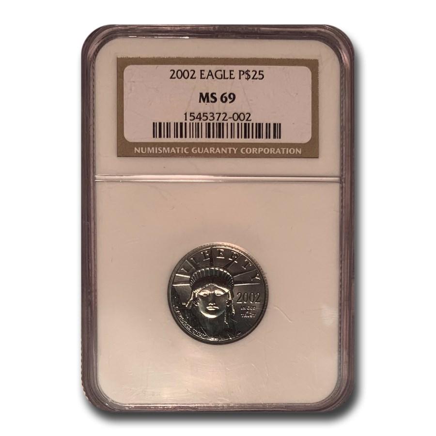 2002 1/4 oz American Platinum Eagle MS-69 NGC