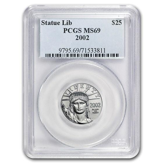 2002 1/4 oz American Platinum Eagle MS-69 PCGS