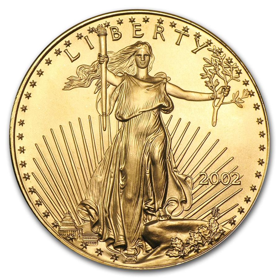 2002 1 oz American Gold Eagle BU