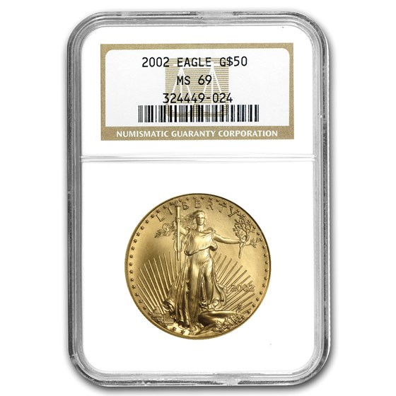 2002 1 oz American Gold Eagle MS-69 NGC