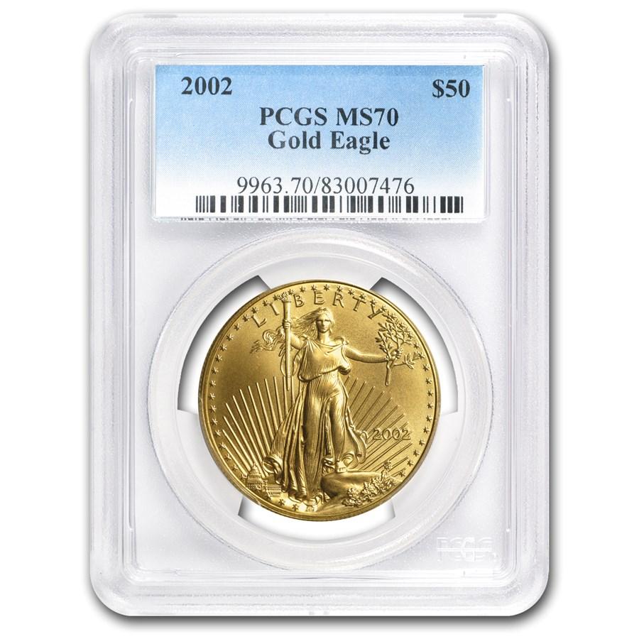 2002 1 oz American Gold Eagle MS-70 PCGS