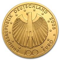 2002-2015 Germany Gold 100 Euro BU