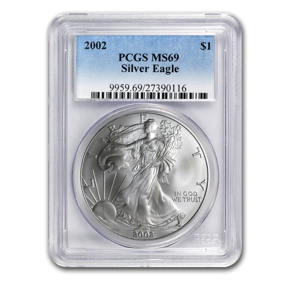 2002 American Silver Eagle MS-69 PCGS