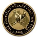 2002 Australia 1/10 oz Gold Nugget