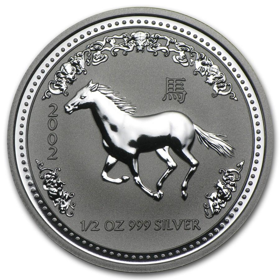 2002 Australia 1/2 oz Silver Year of the Horse BU (Series I)