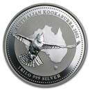 2002 Australia 1 kilo Silver Kookaburra BU