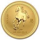 2002 Australia 1 oz Gold Lunar Horse BU (Series I)