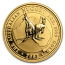 2002 Australia 1 oz Gold Nugget BU