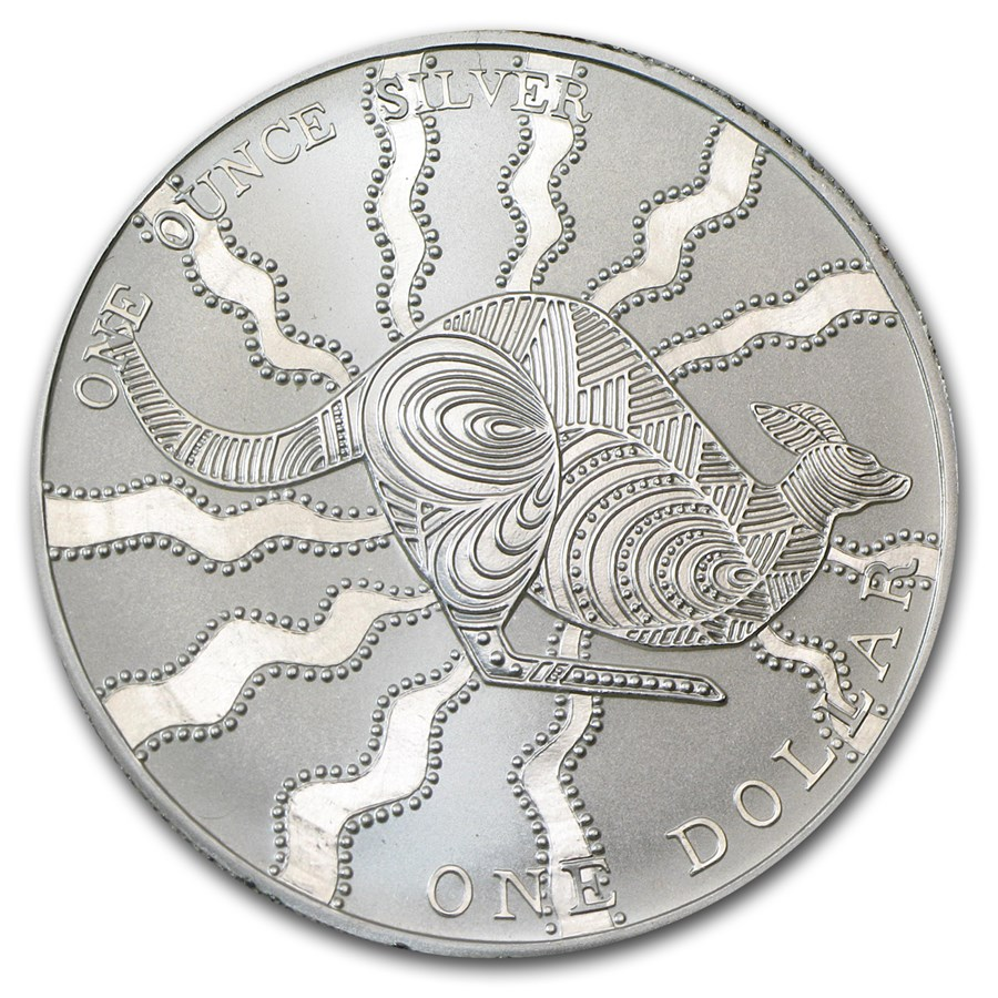2002 Australia 1 oz Silver Kangaroo (Light Abrasions)