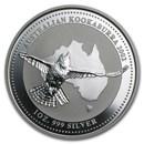 2002 Australia 1 oz Silver Kookaburra BU