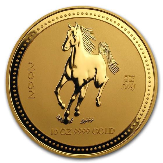 2002 Australia 10 oz Gold Lunar Horse BU (Series I)