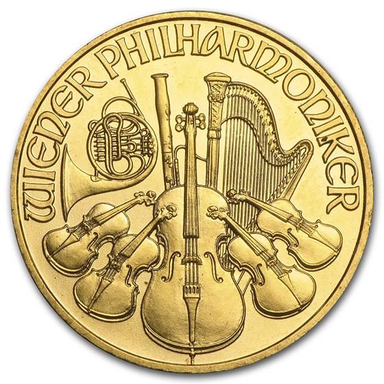 2002 Austria 1/4 oz Gold Philharmonic BU