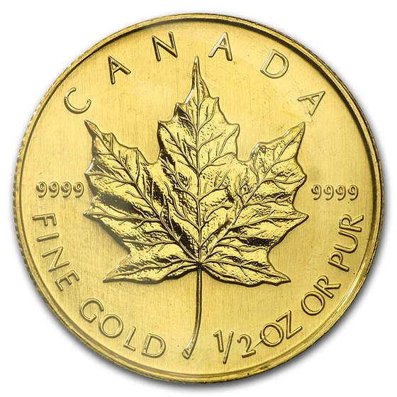 2002 Canada 1/2 oz Gold Maple Leaf BU