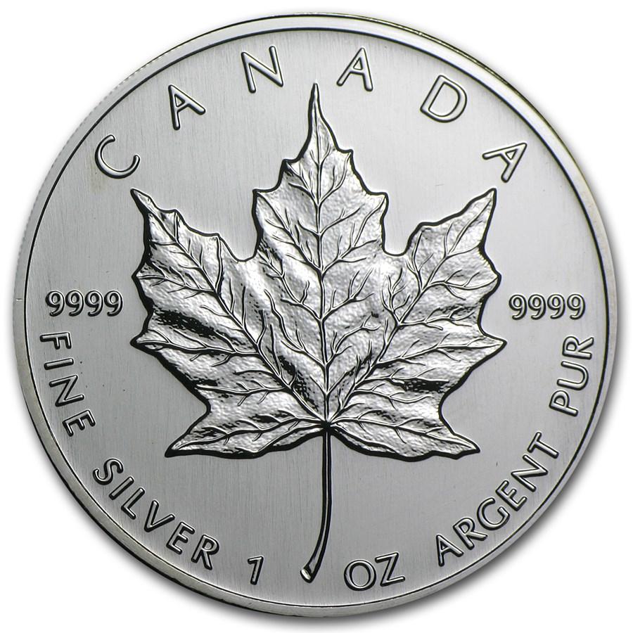 2002 Canada 1 oz Silver Maple Leaf BU