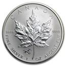 2002 Canada 1 oz Silver Maple Leaf Lunar Horse Privy