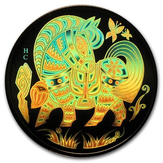 2002 Canada Gold $150 Horse (Hologram, w/Box & COA)