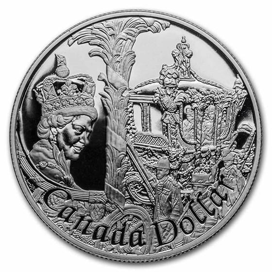 2002 Canada Silver Dollar Proof (Golden Jubilee w/OGP)
